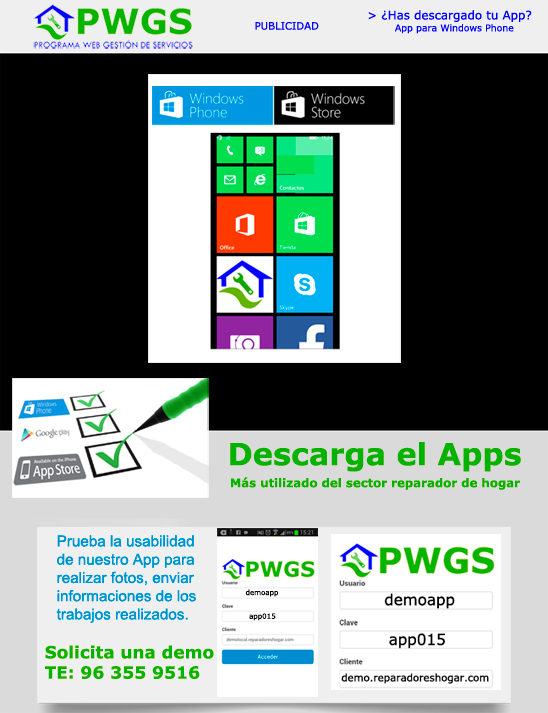 PWGS en Windows Phone